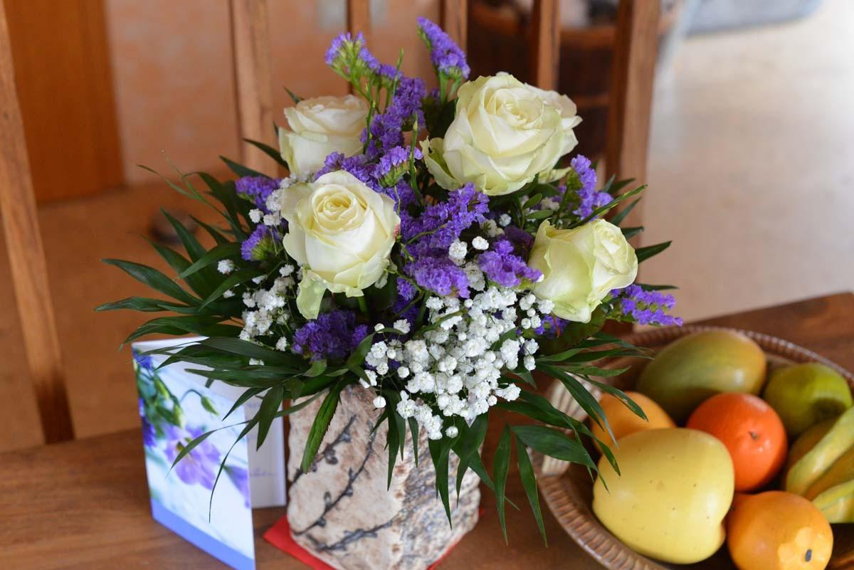 Blumen für die frischgebackene Mama