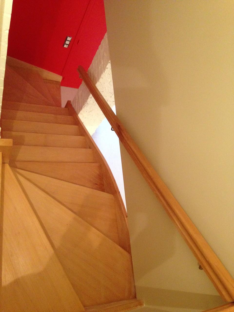 Escalier double-quart tournant
