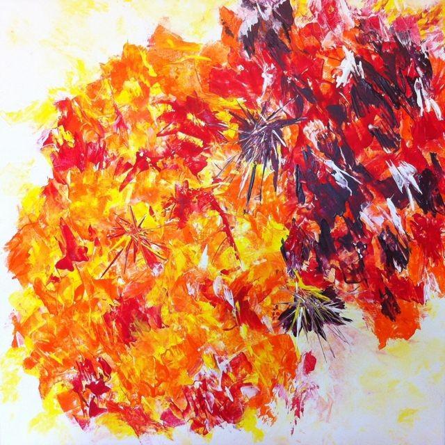 """Explosiv"", Abstract, Acryl"