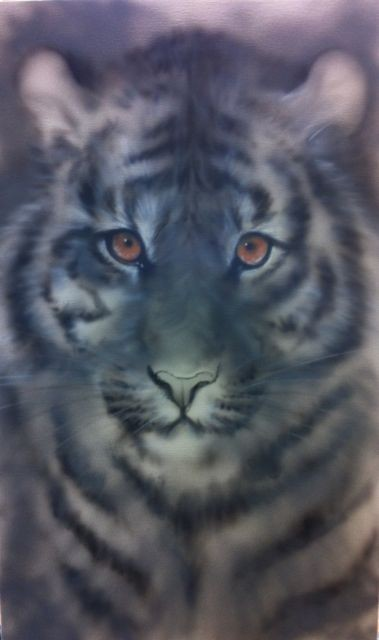 """""""Tiger"""", Airbrush-Technik"""