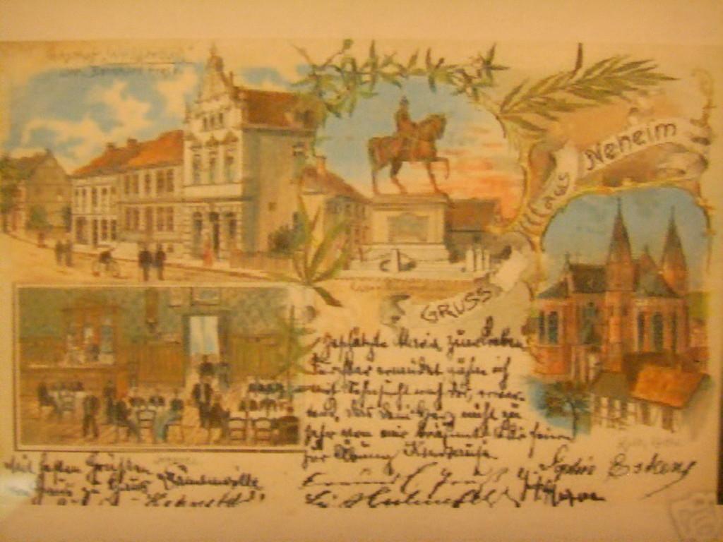 Alte Postkarte o.l. und u.l Tillmann's Bauer, mitte Gransauplatz, rechts Johanneskirche ohne Glockenturm