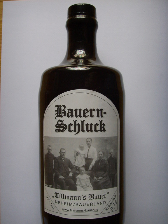 Bauern-Schluck  Kräuterlikör.  Mitnahmepreis 13,00€