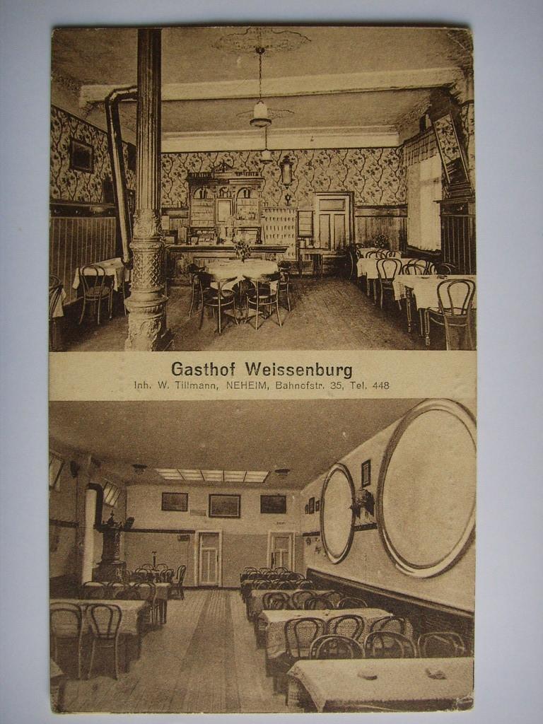 Innenansicht und ehemaliger Saal. Um 1930