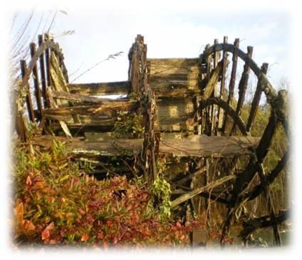 ancienne roue moulin de Verrières