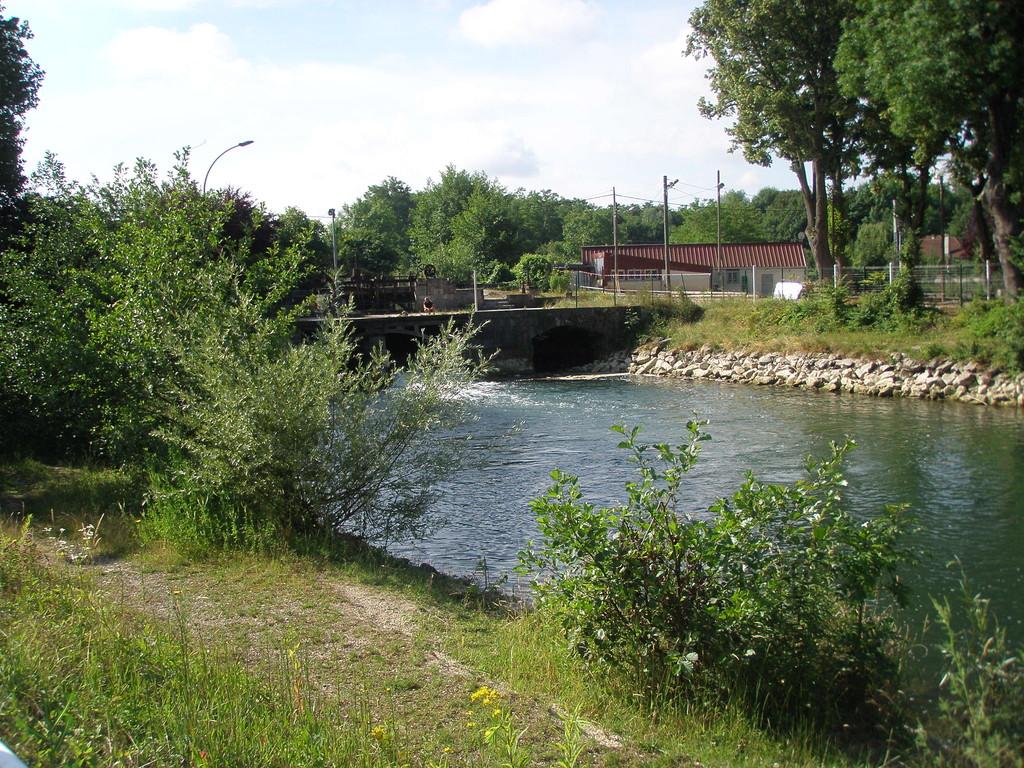 Seine moulin de la Moline Troyes