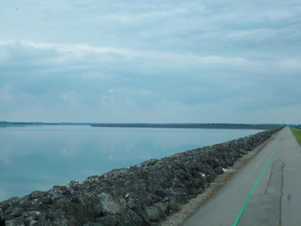 vue sur la réserve du lac par l'observatoire du parc naturel de la forêt d'Orient