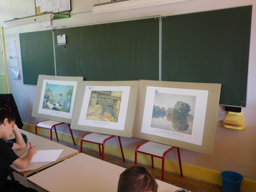 exposition de la semaine classe d'eau de Vallant Saint Georges