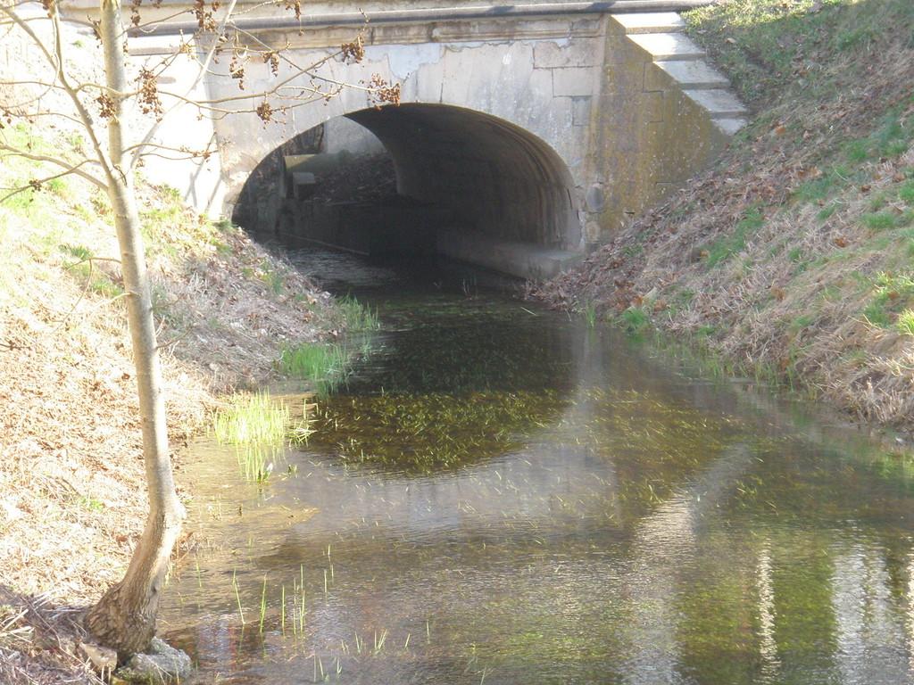 Le Ru de Fontaine les Grés passant sous l'ex N 19 actuelle D 619
