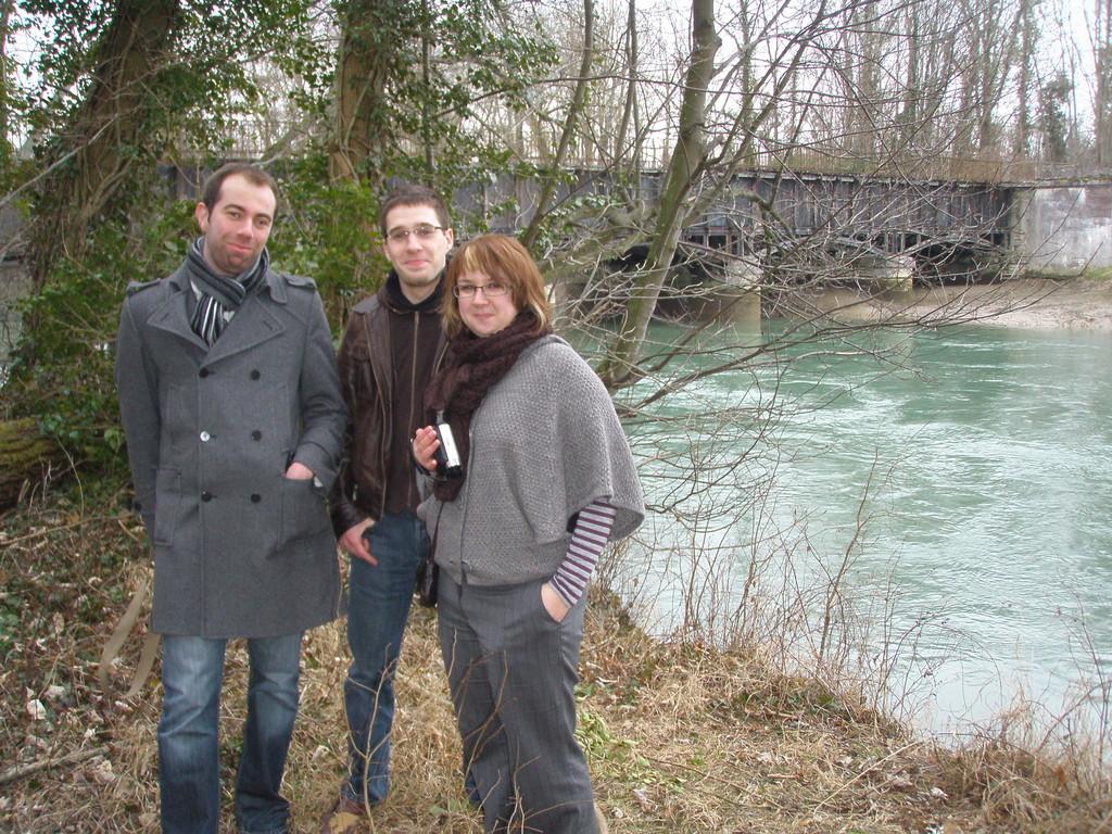 Alexandra Trubat et l'équipe de tournage