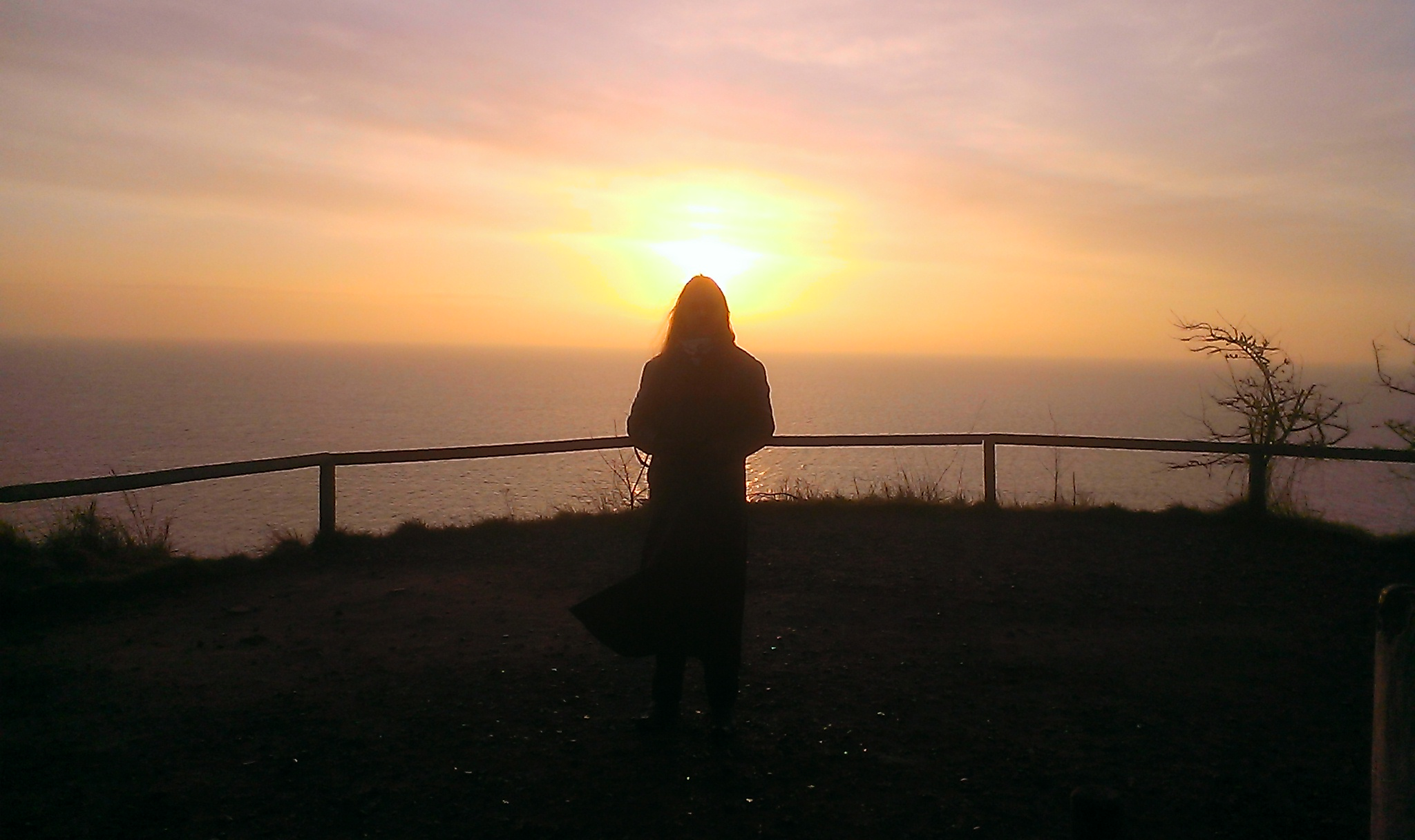 Sonnenaufgang auf Rügen Aussichtspunkt bei Vitt