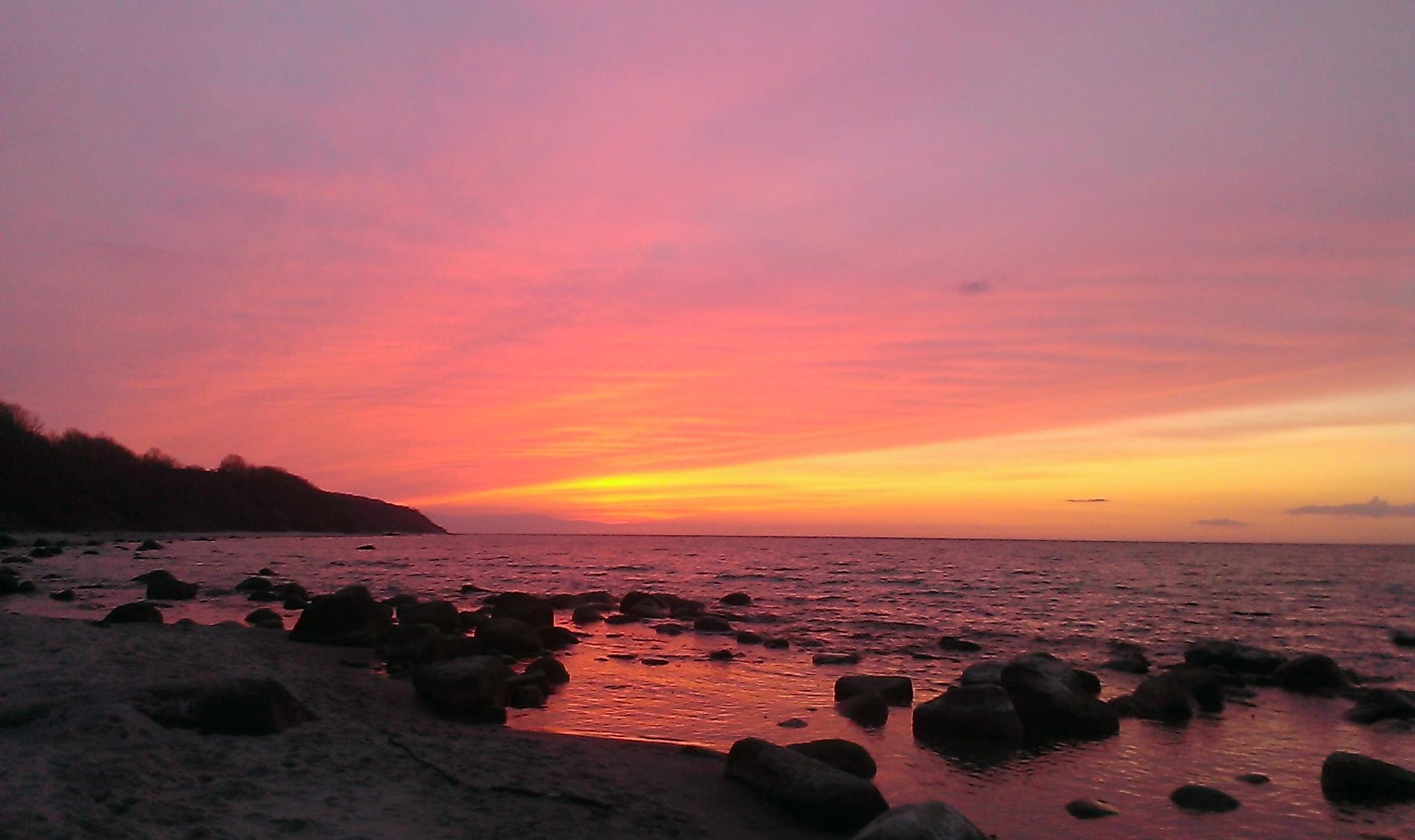 Sonnenuntergang westlich von Kap Arkona