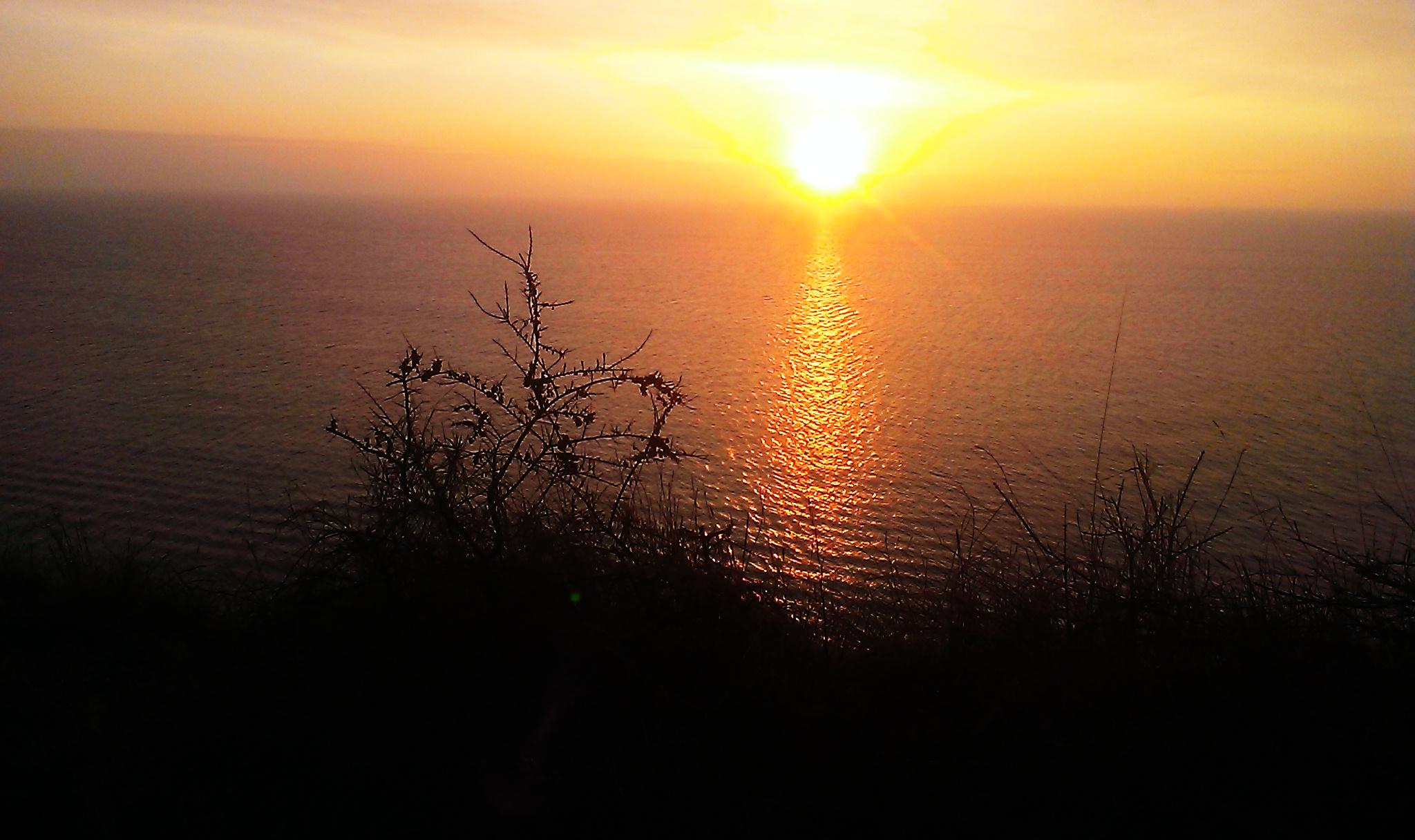 Blick vom Aussichtspunkt zwischen Vitt und Kap Arkona