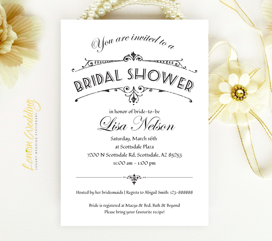 classic bridal shower invitations 027
