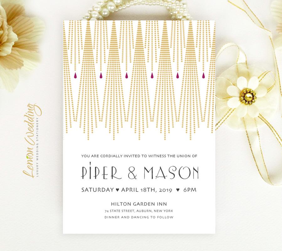 Great Gatsby Wedding Invitation LemonWedding