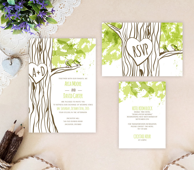 Love Bird Wedding Invitation # 50.3