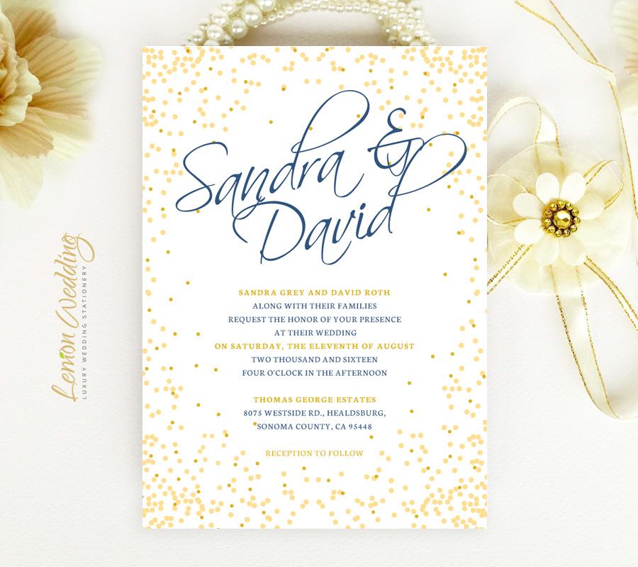 Confetti wedding invitations - LemonWedding