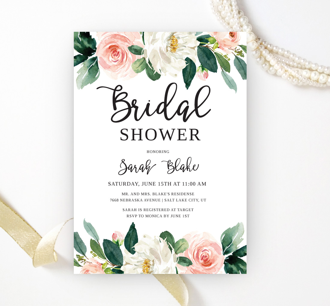 Fl Bridal Shower Invitations