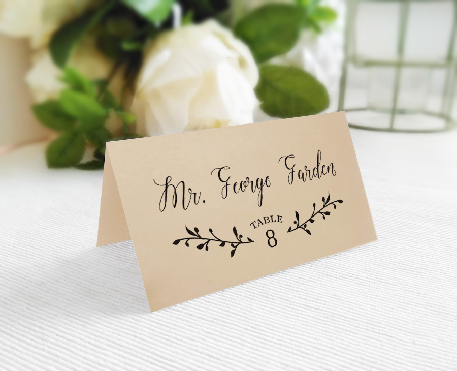 Custom Name Place Cards