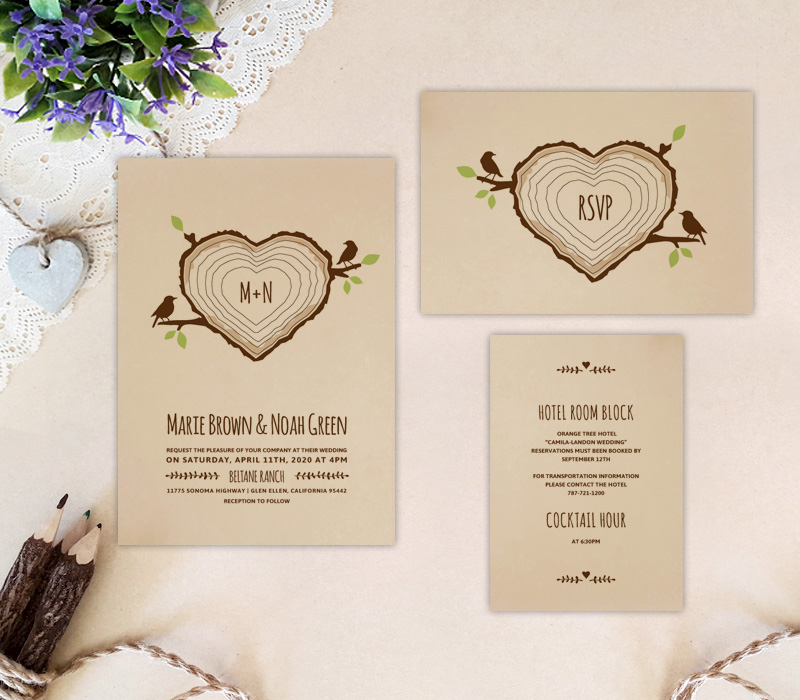 Wedding Invitation Packages.Kraft Paper Wedding Invitations