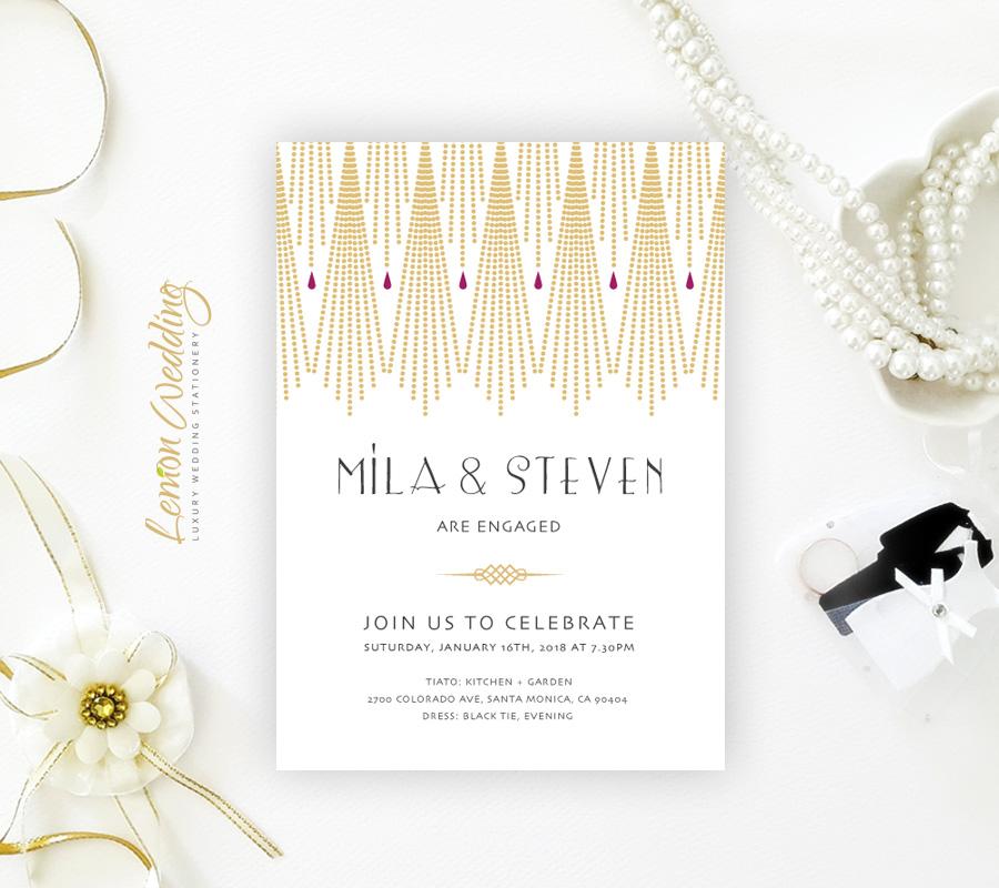 Elegant Engagement Invitation Card