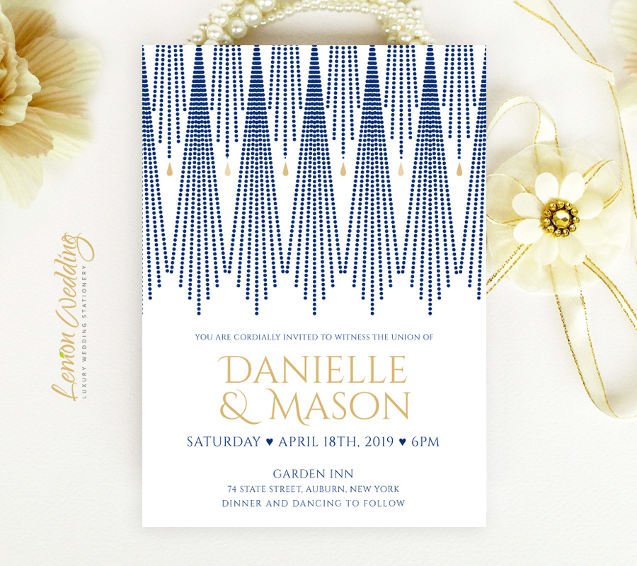 Art Deco Wedding Invitations.Art Deco Wedding Invitations