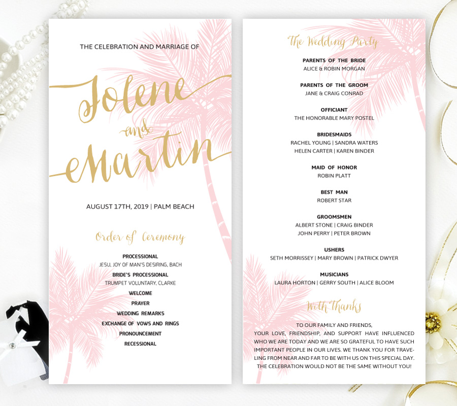 Wedding Ceremony Programs.Hawaiian Wedding Ceremony Programs