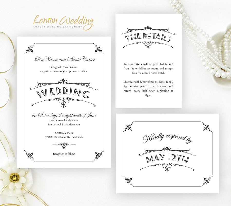 Wedding Invitation Packages.Simple Wedding Invitation Sets