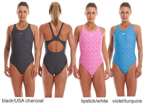 glatt viele modisch am besten verkaufen Badeanzug Monogram Allover Muscleback von Speedo