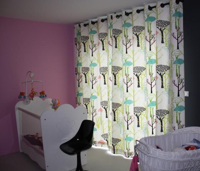 rideaux à oeillets noir, tissu Designers Guild, collection Manhatan