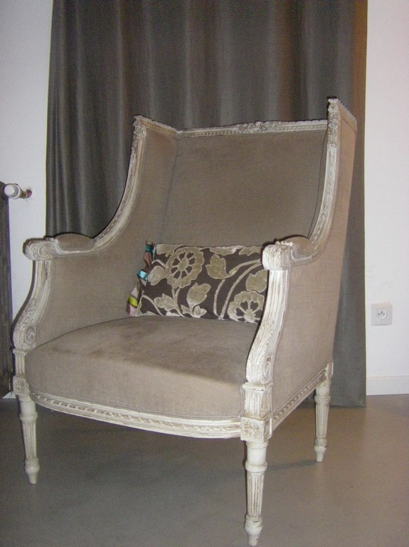 bergère Louis XVI, Tissu uni Romo