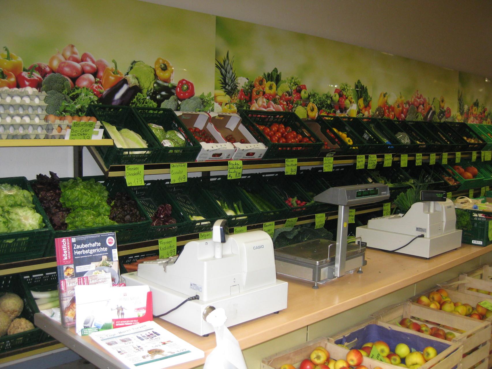 Obst- und Gemüsetheke