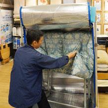 4.ふっくら乾燥 専用の大型乾燥機「ふんわりマシーン」で乾燥