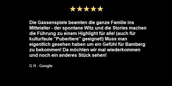 Googlebewertung 5 Sterne
