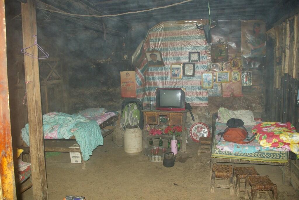 Hier bekommen wir die Betten der Familie zum Schlafen.