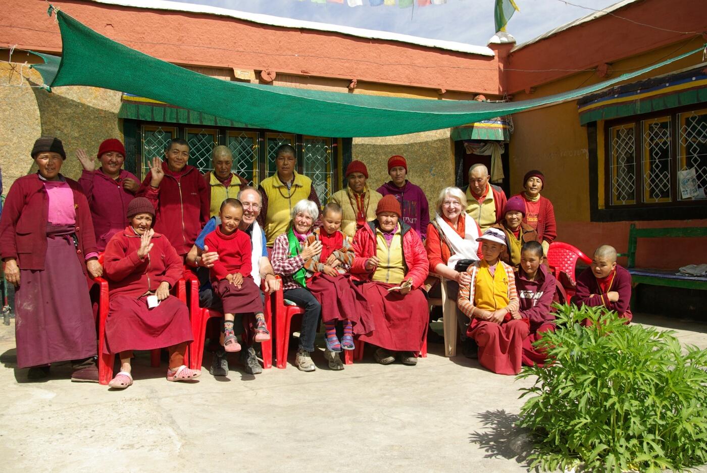 Wakha Kloster: Gruppenbild zum Abschied.