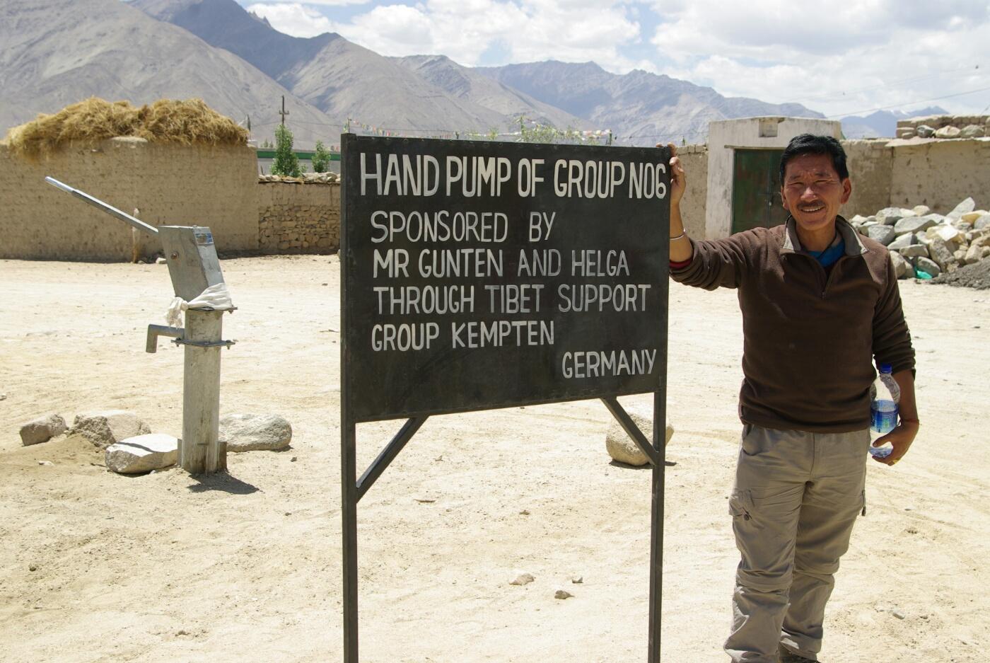 Choglamsar: Wasserpumpen sind hier lebensnotwendig