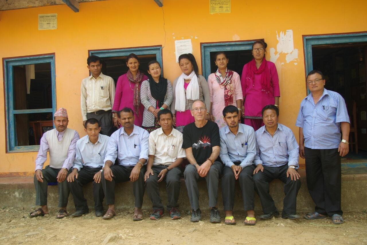 Gruppenfoto mit den Kollegen.