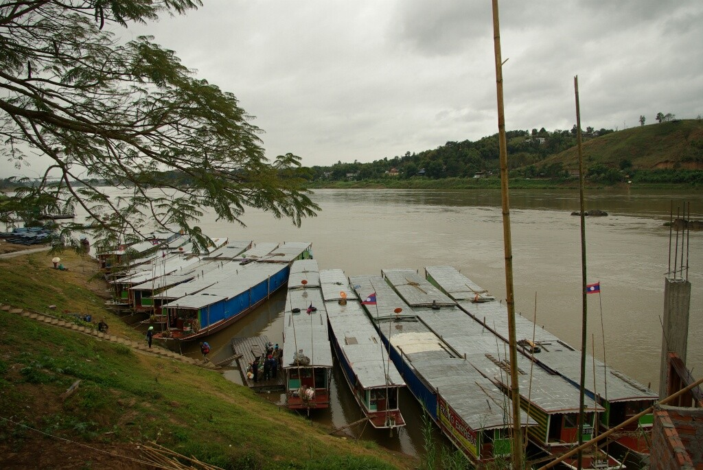 Anlegestelle der Boote in Huay Xai