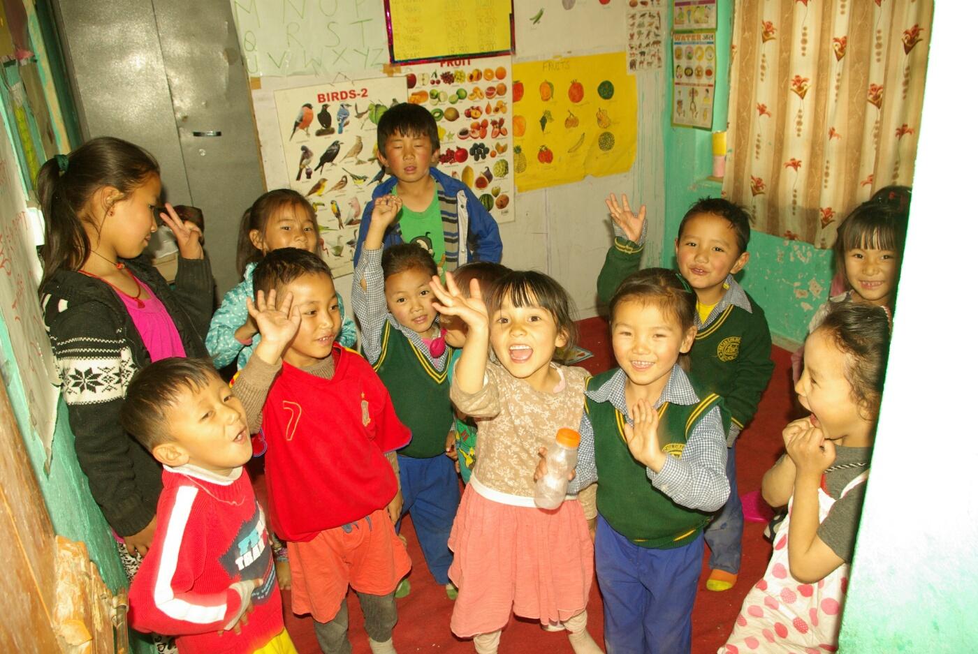 Choglamsar: Der winzige Kindergartenraum