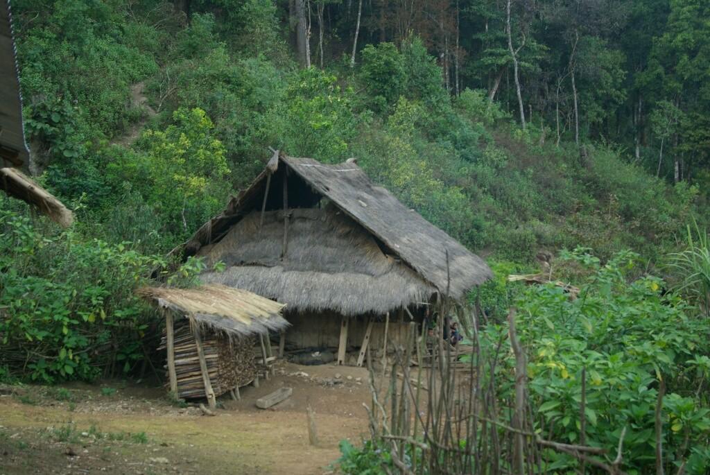 Manche Häuse haben noch Dächer aus Gras.