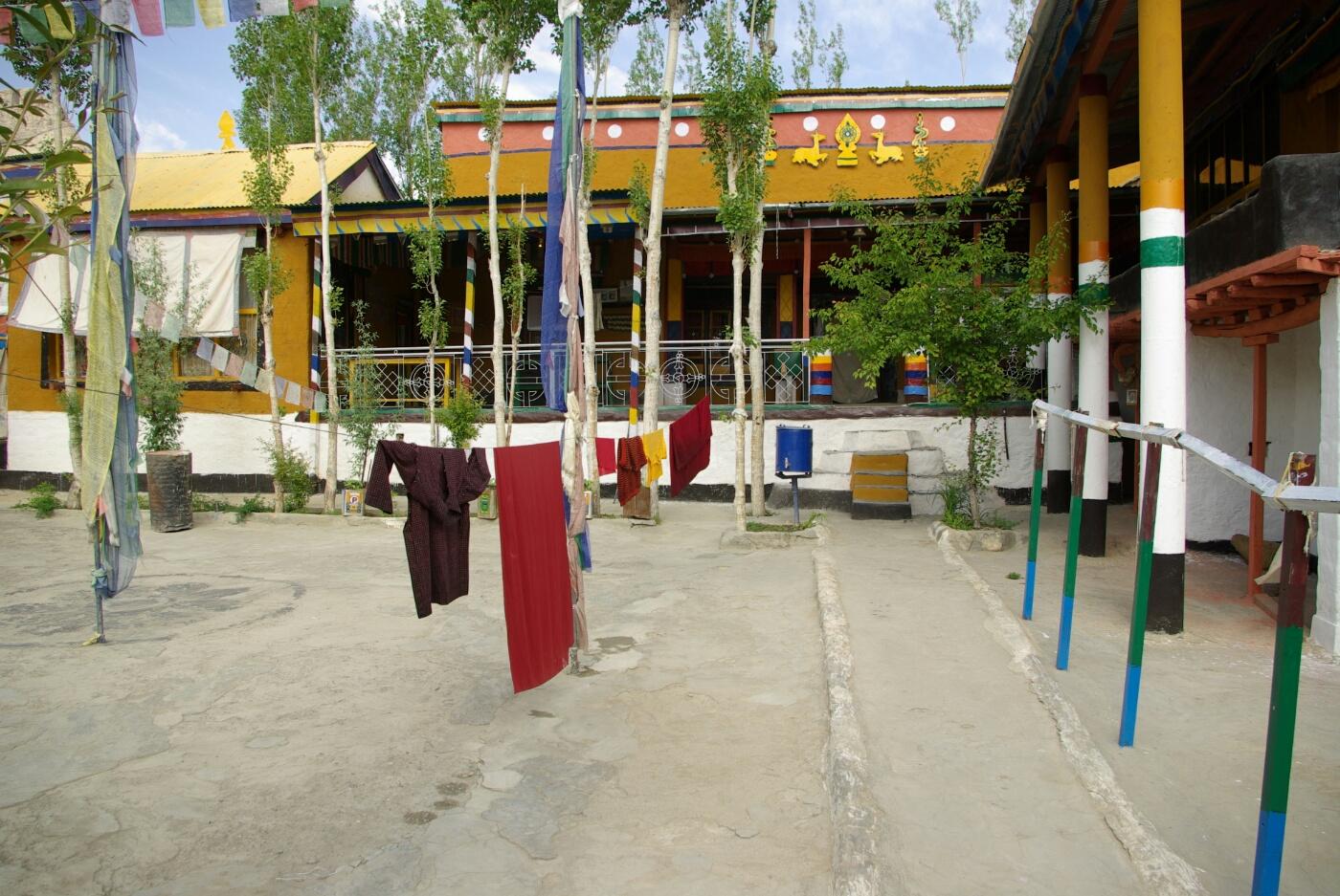 Wakha Kloster: Einer der Innenhöfe.