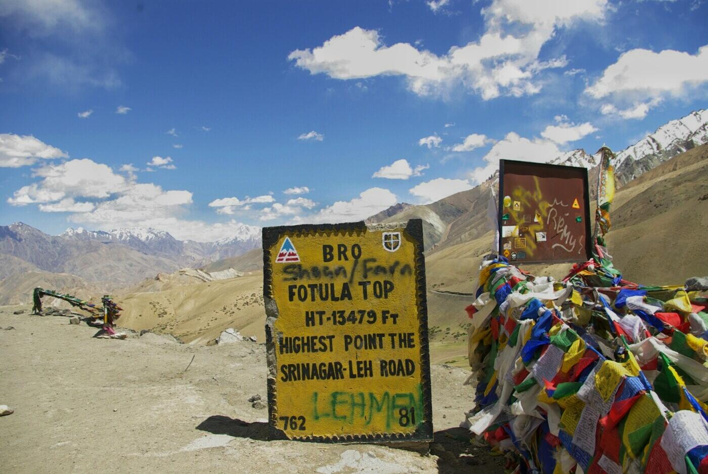 Unterwegs nach Wakha: Überquerung der Passhöhe.