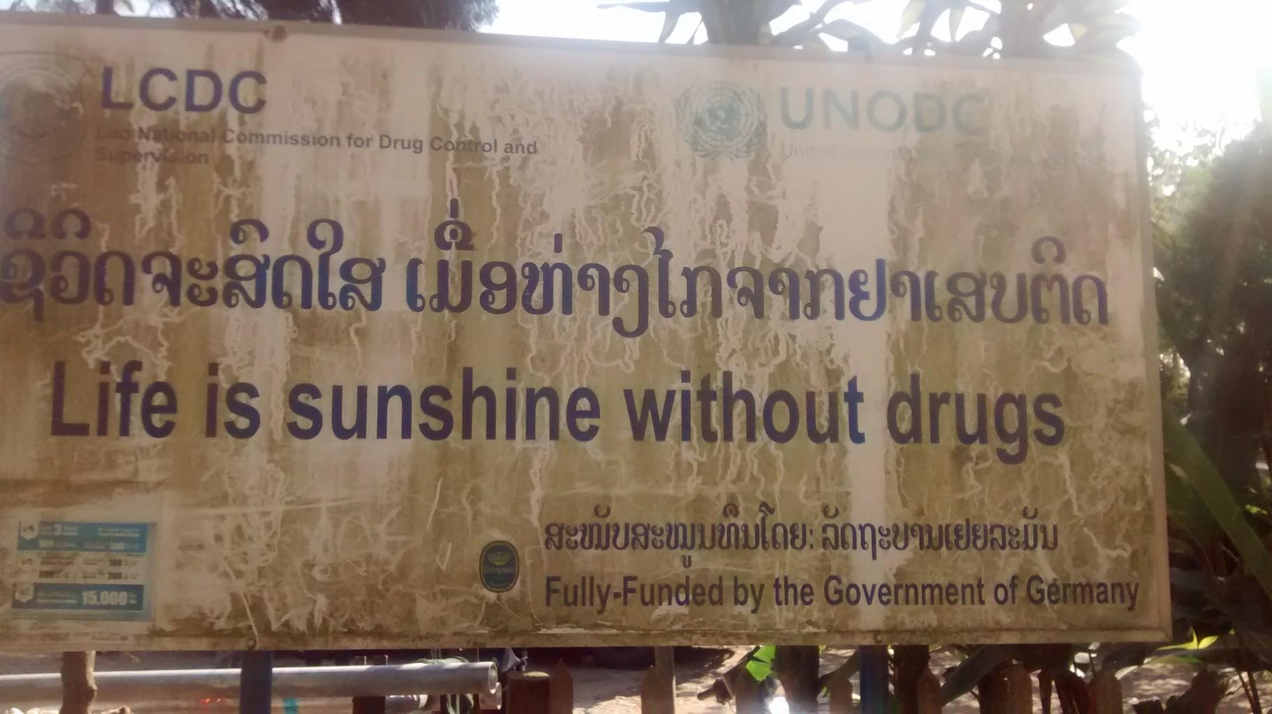 Die BRD unterstützt auch den Kampf gegen Drogen
