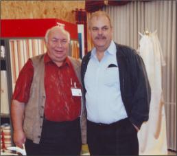 Der erste und der aktuelle 1. Vorsitzende, Ernst Eicke und Ernst Schmidt auf einer Informa