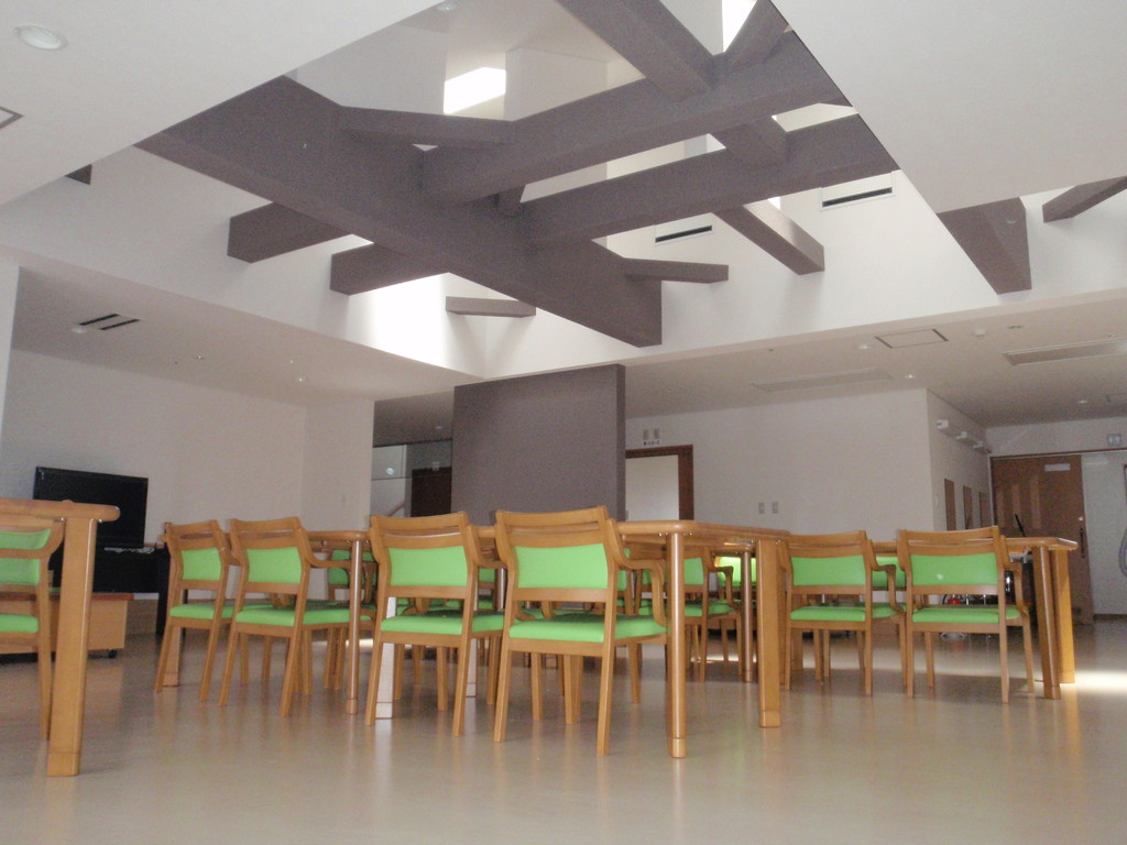 天窓のある食堂