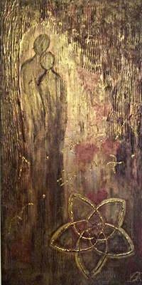 Acryl Energiebild in Holzoptik für Liebende