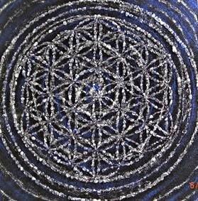 Blume des Lebens aus Elomin Kristallen