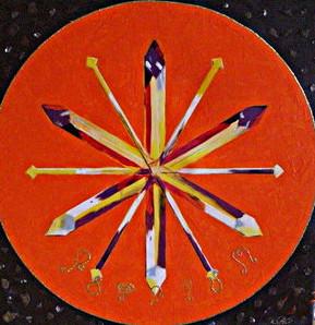 Kristall Mandala ACBAHUM  Freude Fülle und Wohlstand.  Reinigung von Edelsteinen und Kristallen  Energetissierung von Räumen und Orten