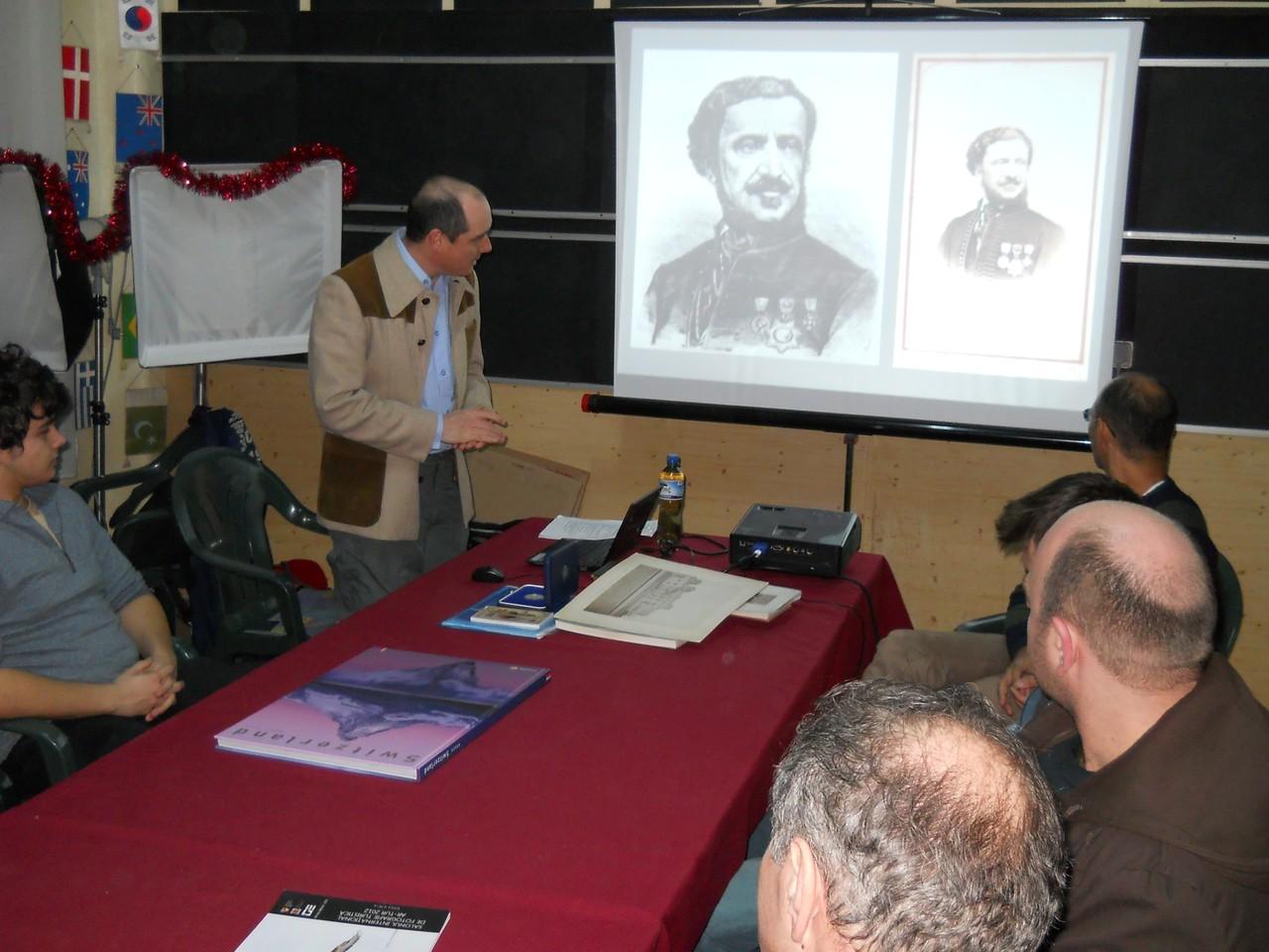 Eléadás Szathmári Pap Károlyról a Nagyváradi Fotóklub Fekete Sas Palotai székhelyén 2013 január 30-án