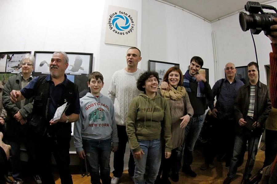 Fotó kiállítás megnyitója az  Újvidéki FKVSV Galériában a Nemzetközi Fesztivál keretén belül 2013 február  8-án